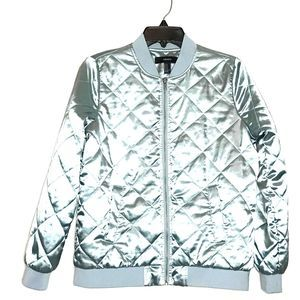 Forever 21 Ice Blue Quilted Jacket
